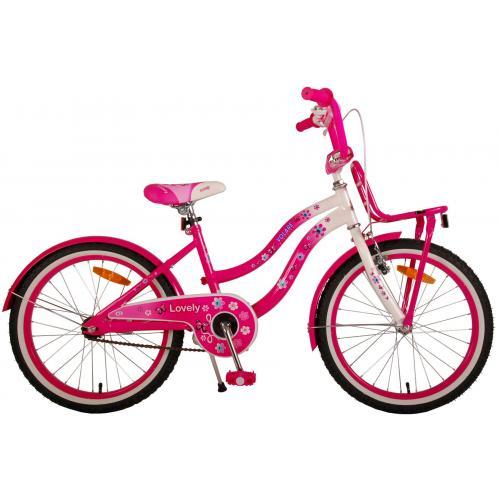 Volare Lovely Rower Dziecięcy - Dziewczyny - 20 cali  - Różowy Biały - 95% zmontowany