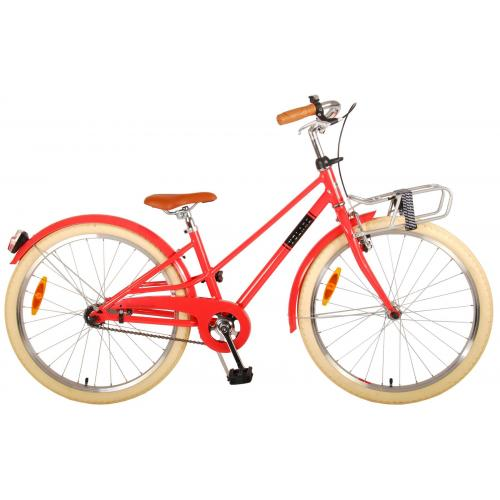 Volare Melody Rower dziecięcy - Dziewczyny - 24 cale - pastelowa czerwień - Prime Collection