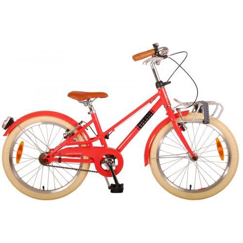 Volare Melody Rower dziecięcy - Dziewczyny - 20 cale - pastelowa czerwień - dwa hamulce ręczne - Prime Collection