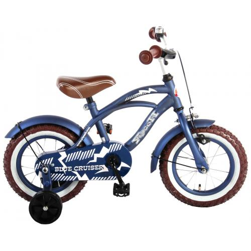 Rower dziecięcy Volare Blue Cruiser - Chłopcy - 12 cali - Niebieski - 95% zmontowane