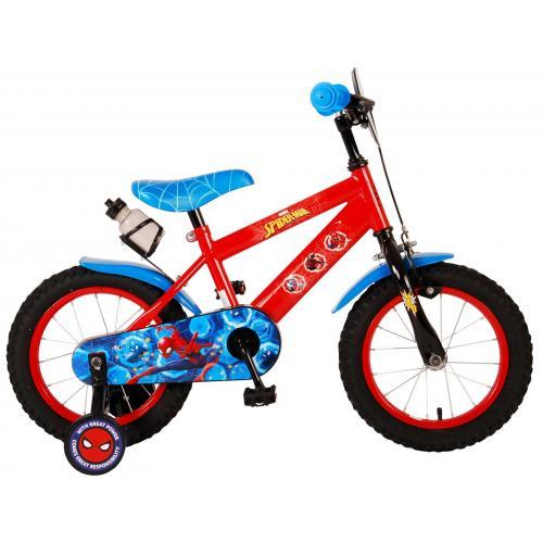 Ultimate Spider-Man Rower dziecięcy - Chłopcy - 14 cali - Czerwony Niebieski