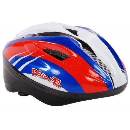 Kask rowerowy Volare Deluxe - Czerwony Niebieski Biały - 51-55 cm