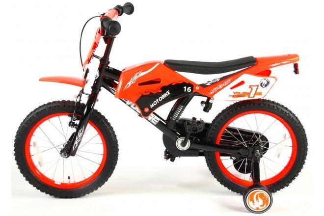 Rower dziecięcy Volare Motorbike - Chłopcy - 16 cali - Pomarańczowy - 95% zmontowane