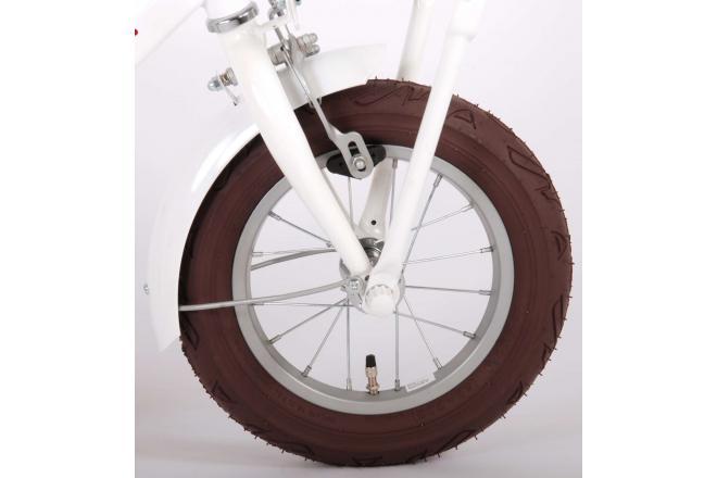 Volare Liberty Rower dziecięcy - Dziewczynki - 12 cali - Biały - 95% zmontowany